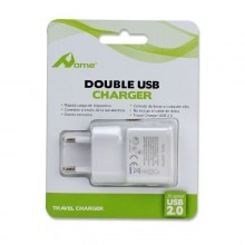 Adaptador de red con 2 salidas USB