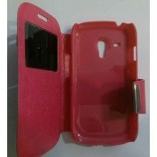 Funda con tapa Galaxy S3 Mini Liso Rosa