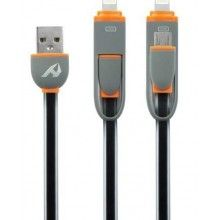 CABLE 2EN1 IPHONE 6 Y MICRO USB