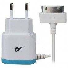 Cargador de red para iPhone 4 con puerto USB