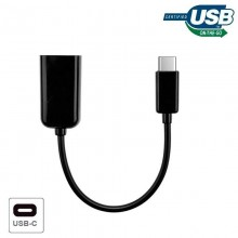 Cable Entrada USB OTG Tipo-C Universal (Negro)