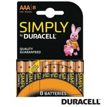Bateria Duracell AAA 8 unidades