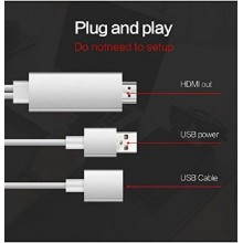 CABLE ADAPTADOR 3 EN 1 HDMI HDTV FULL HD PARA IPHONE IPAD ANDROID TV PLUG & PLAY