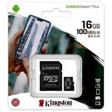 Tarjeta Memoria Micro SD 16 GB Kingston 100 Mb/s