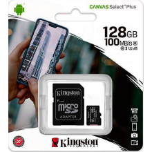 Tarjeta Micro SD 128 GB Kingston con Adaptador(clase 10)