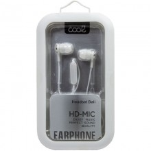 Auriculares 3,5 mm COOL Bali Stereo Con Micro Blanco